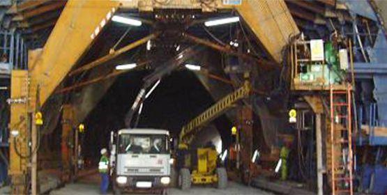 Carros de revestimientos de túneles